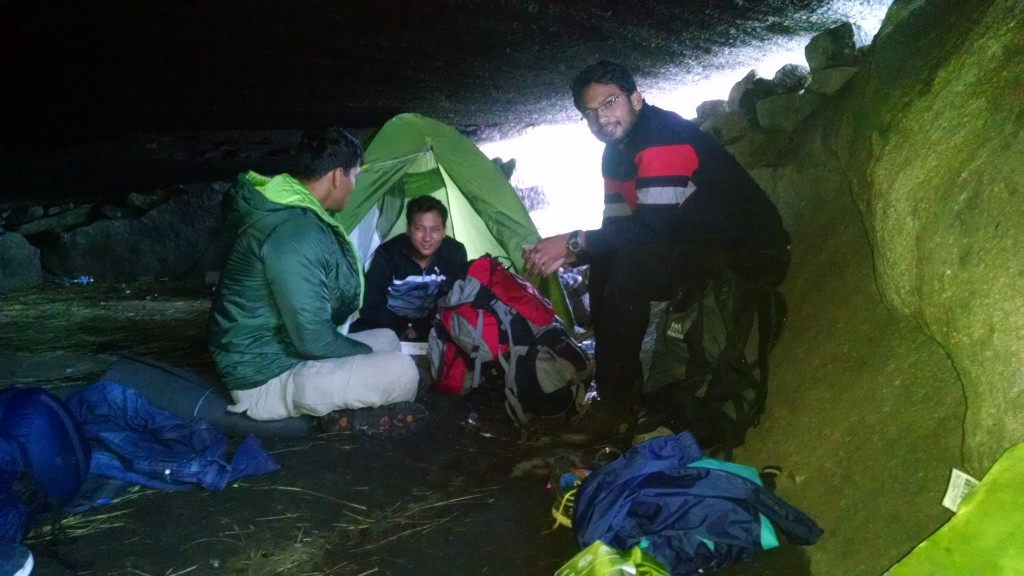 Camping inside the Lohesh cave