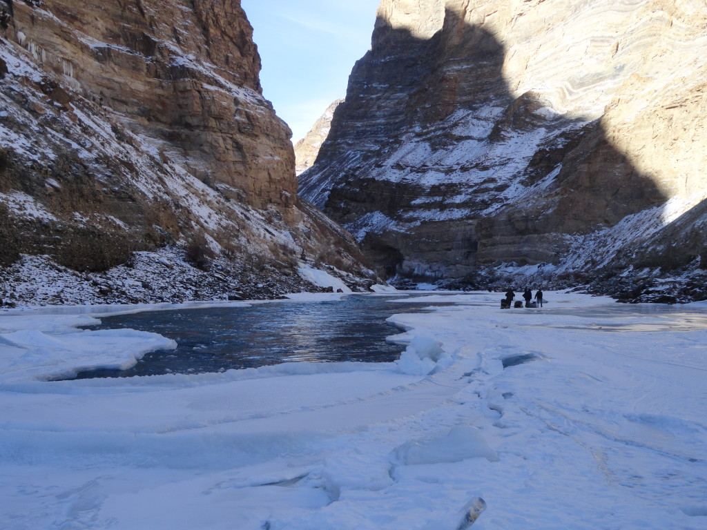 The climate change is affecting the freezing pattern of the Zanskar river
